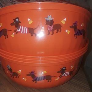 Halloween  dachshund vandy bowl / BUNDLE ONLY